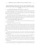 PHÂN TÍCH THỰC TRẠNG VỀ VIỆC DUY TRÌ VÀ MỞ RỘNG  THỊ TRƯỜNG TIÊU THỤ SẢN PHẨM CỦA NHÀ MÁY THUỐC LÁ THĂNG LONG