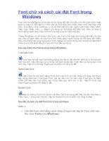 Font chữ và cách cài đặt Font trong Windows.doc