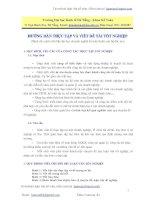 Hướng dẫn làm luận văn kế toán kiểm toán