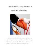 Đột tử vì biến chứng tim mạch ở người đái tháo đường