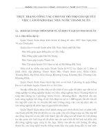 THỰC TRẠNG CÔNG TÁC CHO VAY HỖ TRỢ GIẢI QUYẾT VIỆC LÀM Ở KHO BẠC NHÀ NƯỚC THANH XUÂN