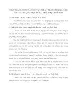 THỰC TRẠNG CƠ SỞ VẬT CHẤT KỸ THUẬT TRONG MỐI QUAN HỆ VỚI CHẤT LƯỢNG PHỤC VỤ TẠI KHÁCH SẠN HOÀ BÌNH