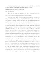 NHỮNG CƠ SỞ LÝ LUẬN VÀ NỘI DUNG CHỦ YẾU VỀ DOANH NGHIỆP VÀ HOẠT ĐỘNG CỦA HIỆP HỘI DOANH NGHIỆP