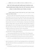 MỘT SỐ Ý KIẾN NHẬN XÉT KIẾN NGHỊ VÀ NHỮNG GIẢI PHÁP NHẰM HOÀN THIỆN CÔNG TÁC KẾ TOÁN NVL CCDC Ở CÔNG TY CÔNG TRÌNH GIAO THÔNG I HÀ NỘI