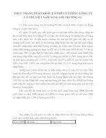 THỰC TRẠNG XUẤT KHẨU CÀ PHÊ CỦA TỔNG CÔNG TY CÀ PHÊ VIỆT NAM SANG THỊ TRƯỜNG EU