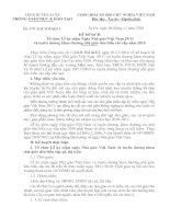 Kế hoạch tổ chức lễ KN ngày NGVN 20-11