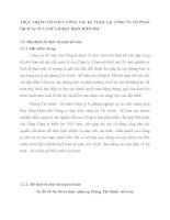 THỰC TRẠNG TỔ CHỨC CÔNG TÁC KẾ TOÁN TẠI CÔNG TY CỔ PHẦN DỊCH VỤ SỬA CHỮA NHIỆT ĐIỆN MIỀN BẮC