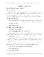 Bài tập Quản trị Dự án Đề tài : Kinh doanh Câu lạc bộ Billiards