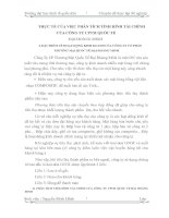 THỰC TẾ CỦA VIỆC PHÂN TÍCH TÌNH HÌNH TÀI CHÍNH CỦA CÔNG TY CPTM QUỐC TẾ