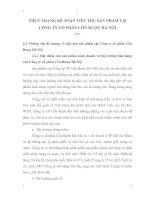 THỰC TRẠNG KẾ TOÁN TIÊU THỤ SẢN PHẨM TẠI CÔNG TY CỔ PHẦN CỒN RƯỢU HÀ NỘI