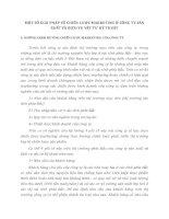 MỘT SỐ GIẢI PHÁP VỀ CHIẾN LƯỢC MARKETING Ở CÔNG TY SẢN XUẤT VÀ DỊCH VỤ VẬT TƯ KỸ THUẬT