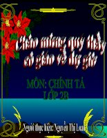 Chinh ta: Su tich cay vu sua