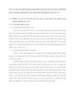 LÝ LUẬN VỀ KẾ TOÁN CHI PHÍ SẢN XUẤT VÀ GIÁ THÀNH SẢN PHẨM TRONG CÁC DOANH NGHIỆP SẢN XUẤT