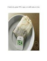 3 tách trà, giảm 70% nguy cơ nhồi máu cơ tim