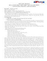 Bài thu hoạch học tập và làm theo tấm gương Đ Đ Hồ Chí Minh