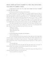 HOÀN THIỆN KẾ TOÁN NGHIỆP VỤ TIÊU THỤ HÀNG HOÁ TẠI CÔNG TY NHHH Á CHÂU