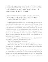 NHỮNG VẤN ĐỀ LÝ LUẬN CHUNG VỀ KẾ TOÁN VÀ PHÂN TÍCH TÌNH HÌNH QUẢN LÝ VÀ SỬ DỤNG TÀI SẢN CỐ ĐỊNH TRONG CÁC DOANH NGHIỆP