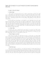 MỘT SỐ VẤN ĐỀ LÝ LUẬN CƠ BẢN VỀ THUẾ NGOÀI QUỐC DOANH