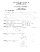 Đề khảo sát lớp 9 giữa kỳ II