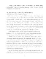 PHÂN TÍCH  ĐÁNH GIÁ HIỆN TRẠNG NHU CẦU ĐI LẠI TRÊN HÀNH LANG TUYẾN VÀ TÌNH HÌNH HOẠT ĐỘNG VTHKCC CỦA XÍ NGHIỆP XE BUÝT HÀ NỘI