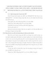 GIẢI PHÁP MỞ RỘNG CHO VAY ĐỐI VỚI KHCN TẠI NGÂN HÀNG NÔNG NGHIỆP VÀ PHÁT TRIỂN NÔNG THÔN