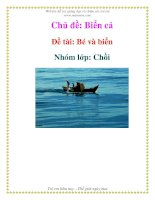 Chủ đề: Biển cả - Đề tài: Bé và biển - Nhóm lớp: Chồi
