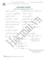 Giải các phương trình và hệ phương trình vô tỉ (Bài tập và hướng dẫn giải)