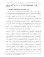 MỘT SỐ GIẢI PHÁP THU HÚT KHÁCH DU LỊCH TRUNG QUỐC