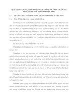 QUÁ TRÌNH CHUẨN BỊ CHO VIỆC HÌNH THÀNH VÀ PHÁT TRIỂN THỊ TRƯỜNG CHỨNG KHOÁN Ở VIỆT NAM