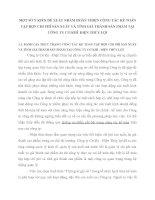 MỘT SỐ Ý KIẾN ĐỀ XUẤT NHẰM HOÀN THIỆN CÔNG TÁC KẾ TOÁN TẬP HỢP CHI PHÍ SẢN XUẤT VÀ TÍNH GIÁ THÀNH SẢN PHẨM TẠI CÔNG TY CƠ KHÍ  ĐIỆN THỦY LỢI