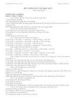 ĐỀ CƯƠNG CÔNG NGHỆ 6 KÌ 1