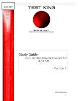 Study Guide Cisco Certified Network Associate 3.0 CCNA 3.0 Version 1