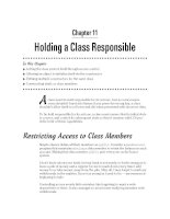 Holding a Class Responsible