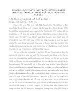 KHÁI QUÁT CHUNG VỀ HOẠT ĐỘNG SẢN XUẤT KINH DOANH TẠI CÔNG TY CỔ PHẦN XÂY DỰNG SỐ II THÁI NGUYÊN