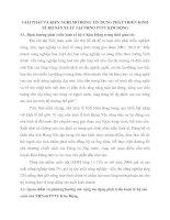 GIẢI PHÁP VÀ KIẾN NGHỊ MỞ RỘNG TÍN DỤNG PHÁT TRIỂN KINH TẾ HỘ SẢN XUẤT TẠI NHNO PTNT KIM ĐỘNG