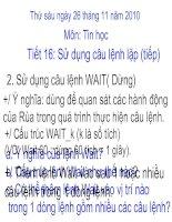Sử dụng câu lệnh lặp (tiết 2)
