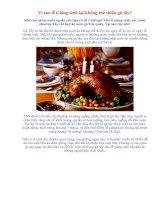 Vì sao lễ Giáng sinh lại không thể thiếu gà tây ?