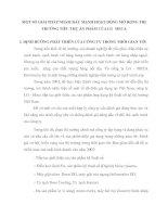 MỘT SỐ GIẢI PHÁP NHẰM ĐẨY MẠNH HOẠT ĐỘNG MỞ RỘNG THỊ TRƯỜNG TIÊU THỤ ẢN PHẨM CỦA LG  MECA