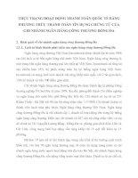 THỰC TRẠNG HOẠT ĐỘNG THANH TOÁN QUỐC TẾ BẰNG PHƯƠNG THỨC THANH TOÁN TÍN DỤNG CHỨNG TỪ CỦA CHI NHÁNH NGÂN HÀNG CÔNG THƯƠNG ĐỐNG ĐA