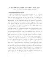 GIẢI PHÁP NÂNG CAO NĂNG LỰC MÁY MÓC THIẾT BỊ TẠI CÔNG TY CỔ PHẦN CƠ KHÍ CHÍNH XÁC SỐ 1