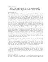 SKKN Một số biện pháp nâng cao chất lượng chữ viết cho học sinh lớp 4-5