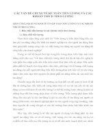 CÁC VẤN ĐỀ CHUNG VỀ KẾ TOÁN TIỀN LƯƠNG VÀ CÁC KHOẢN TRÍCH THEO LƯƠNG