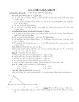Đề trăc nghiệm lý 10 chương I &II
