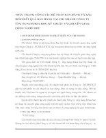 THỰC TRẠNG CÔNG TÁC KẾ TOÁN BÁN HÀNG VÀ XÁC ĐỊNH KẾT QUẢ BÁN HÀNG TẠI CHI NHÁNH CÔNG TY ỨNG DỤNG KHOA HỌC KỸ THUẬT VÀ CHUYỂN GIAO CÔNG NGHỆ MỚI