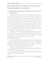 HOÀN THIỆN KẾ TOÁN NGUYÊN VẬT LIỆU TẠI CÔNG TY CỔ PHẦN SÔNG ĐÀ THĂNG LONG