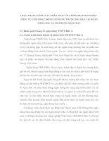 THỰC TRẠNG CÔNG TÁC PHÂN TÍCH TÀI CHÍNH DOANH NGHIỆP PHỤC VỤ CHO HOẠT ĐỘNG TÍN DỤNG TRUNG DÀI HẠN TẠI NGÂN HÀNG BẮC Á CHI NHÁNH HÀNG ĐẬU