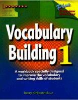 Vocabulary building 1