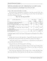 MỘT SỐ GIẢI PHÁP CHỦ YẾU NHẰM NÂNG CAO CHẤT LƯỢNG CUNG CẤP DỊCH VỤ INTERNET TẠI CÔNG TY FPT