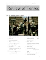 Review of Tenses