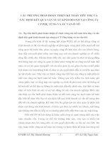CÁC PHƯƠNG PHÁP HOÀN THIỆN KẾ TOÁN TIÊU THỤ VÀ XÁC ĐỊNH KẾT QUẢ SẢN XUẤT KINH DOANH TẠI CÔNG TY CP PHỤ TÙNG VÀ TƯ VẤN Ô TÔ
